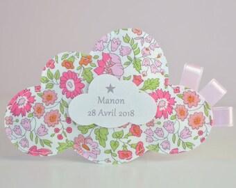 set of 20 chocolate favors for baptism cloud liberty Danjo sweet pink theme