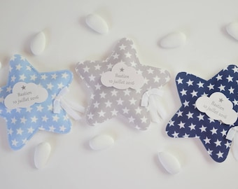 set of 20 chocolate dragees star fabric