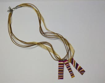 marbled trio necklace
