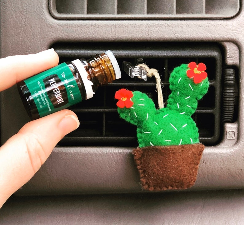 Aromatherapy Essential Oil Prickly Pear Cactus Air Vent Car image