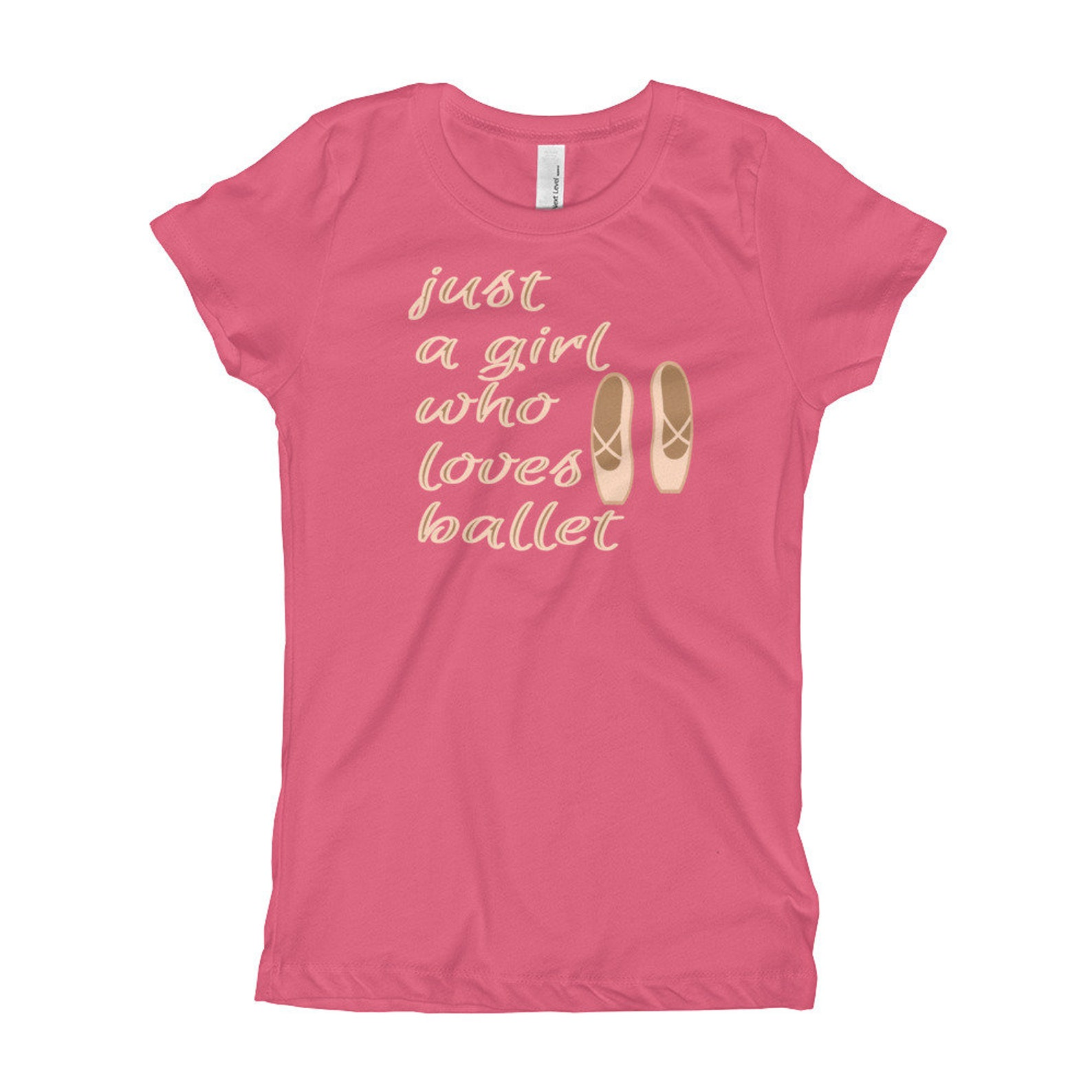 just a girl who loves ballet dancer gift ballet shoes ballerina nutcracker girl's t-shirt