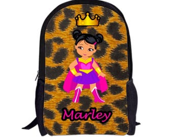 MARLEY Style Melanin Black Girl Backpack with Custom Name e6873ef4ca4fd