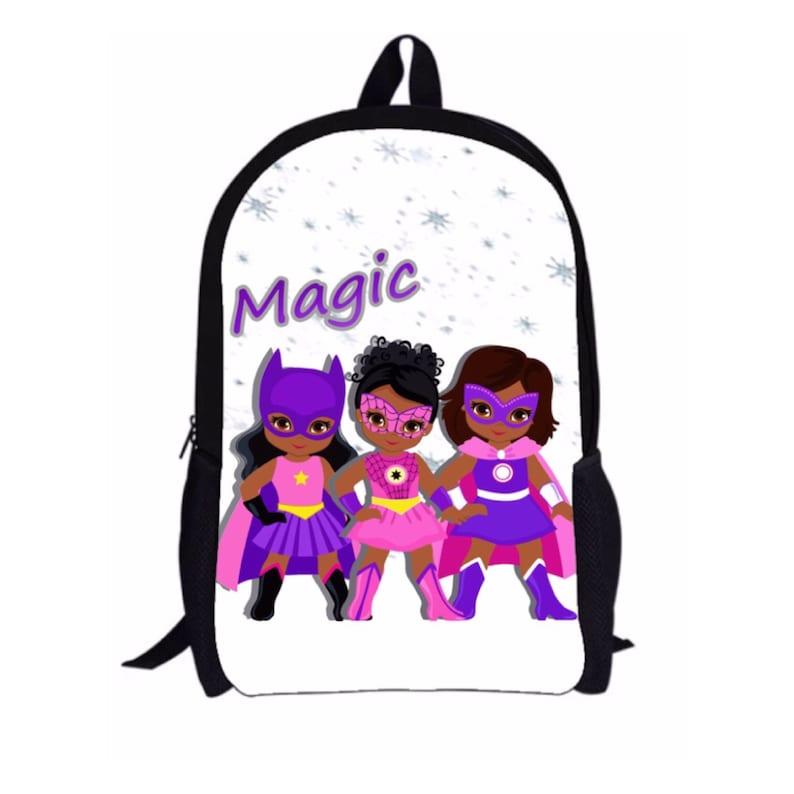 Melanin Black Girl Magic Backpack with Custom Name  e73b26522fda5