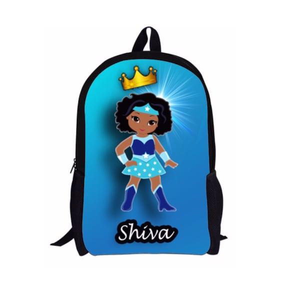 SHIVA Style Custom Melanin Poppin Black Girl Magic Backpack  9b8e3dfe0f9ab