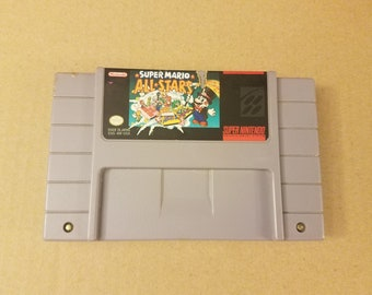 Super Mario All Stars Authentic Cartridge for SNES Super Nintendo, Cleaned and Tested, Fast Shipping!