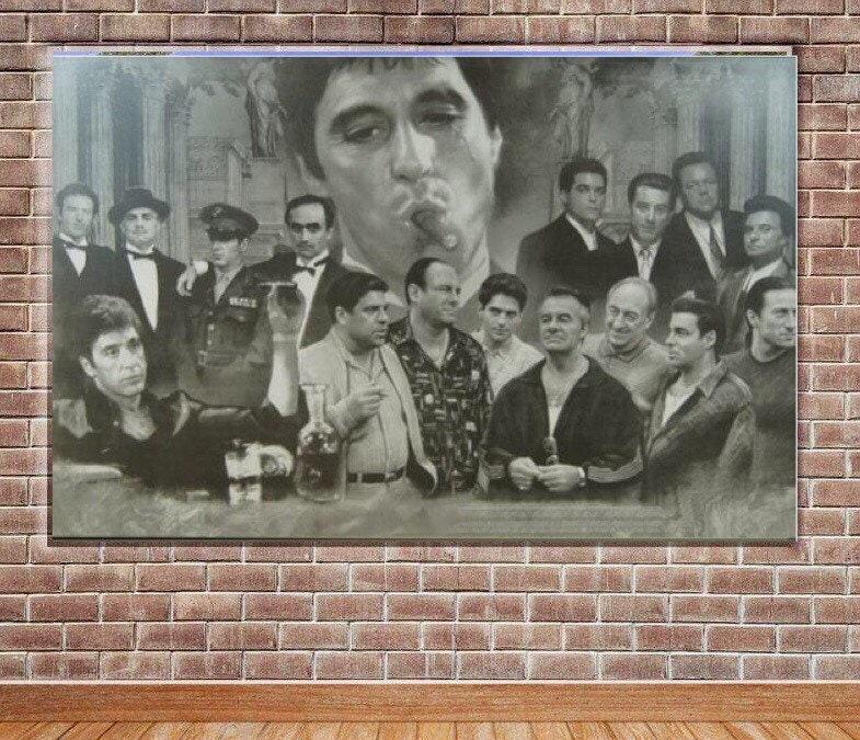 Gangster Movie framed wall canvas art | Etsy