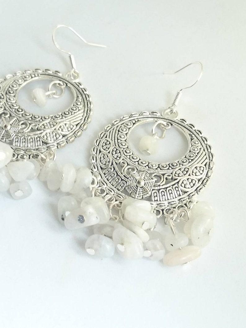 Dangle earrings wedding, Gemstone earrings Moonstone earrings moonstone Women/'s Gifts Gemstones Drop earrings Gifts for Woman