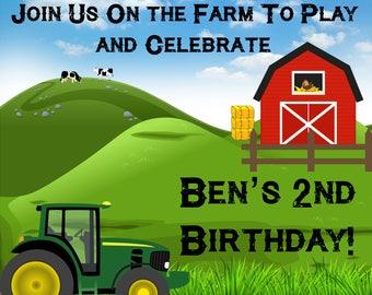Farm Birthday Party Invitation