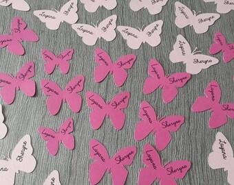 Set of 60 confetti Butterfly theme