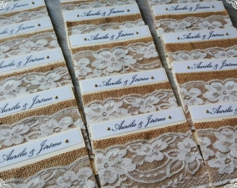 share Bohemian burlap & lace