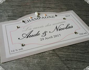 custom champagne bottle labels