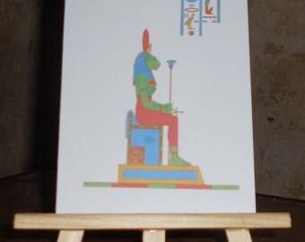 Map postcard Egyptian God