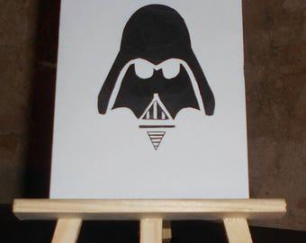 Card Darth Vader helmet in iris folding