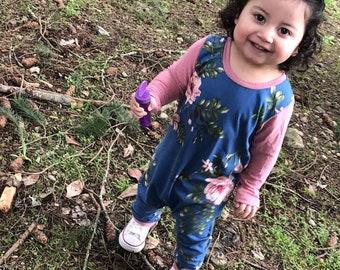 Floral Romper, Spring Romper, Girls Romper, Toddler Girl Bodysuit, Baby Girl Romper, Toddler Romper