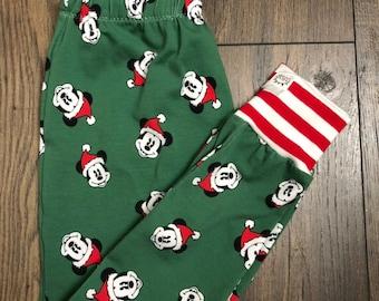 730e6428cd9b13 Christmas Mouse Leggings, Harems, Black and Red Baby Pants, Bummies, Girl  Leggings, Baby Gift, Christmas, Joggers, Harems