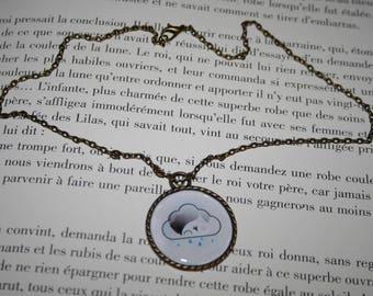 Necklace - bronze 42 cm - kawaii - rainy weather
