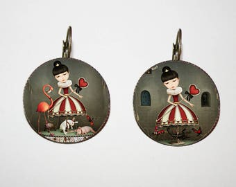 Earrings - fancy 'the Queen of hearts'
