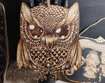 MatLou Craft Hand burned Hanging Owl