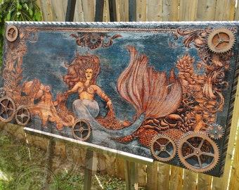 Siren Queen, MatLou Craft Original, Hand burned
