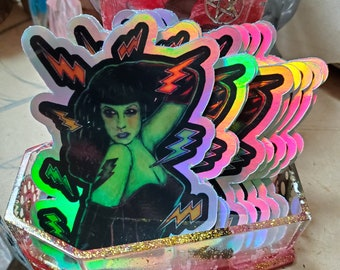 MatLou Holographic Monster Pinup Sticker