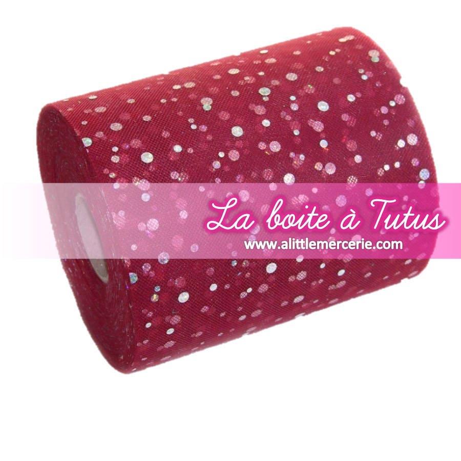 tulle paillettes bordeaux rouge lie de vin tulle paillet etsy. Black Bedroom Furniture Sets. Home Design Ideas