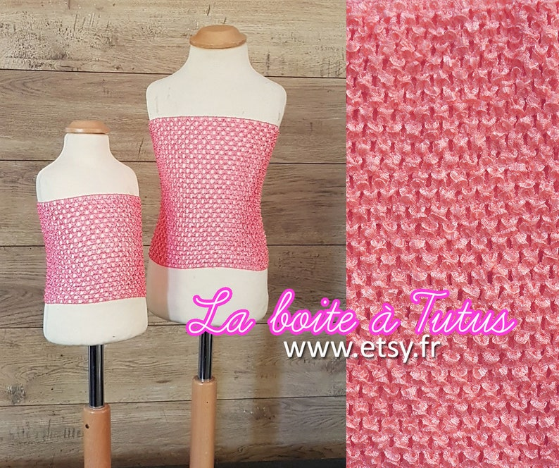 9299ba69f52fb Bustier Crochet pour robe tutu Fille rose CORAIL Bustier | Etsy
