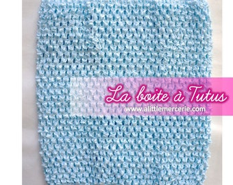 Strapless stretch stretchy crochet for baby tutu dress / girl / / Bustiers Tutu 0 6 9 12 months top light blue Mint glaciale