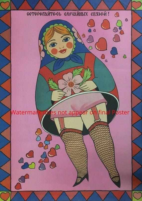 Vintage Soviet Movie The Prostitute Poster  A3 Print