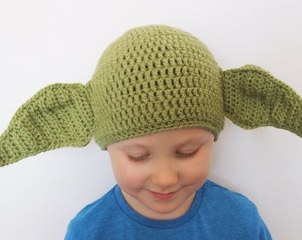 Yoda inspired crochet hat 9d0f0f4285cc