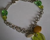 Leaf bracelet and faceted...