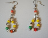 Earrings wooden beads and...
