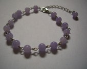 Bracelet purple glass bea...