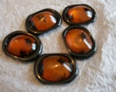 Beads oval amber color fo...