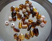 Assortment of amber and c...