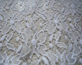 Flowers white lace curtai...