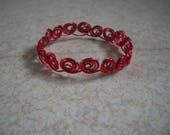 Red aluminum Wire Bracele...