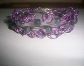Wire Bracelet with purple...