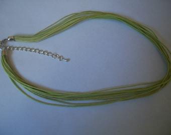 Lime green cotton thread cord