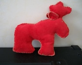 Small stitched red reinde...