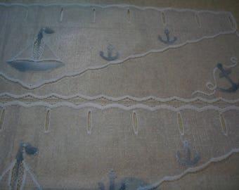 Marine theme curtains