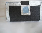 Cosmetic case grey and bl...
