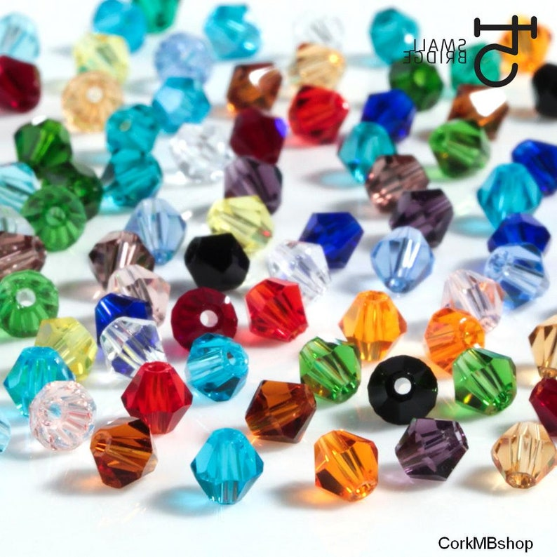 Mix color 3mm 145 pcs or 4mm 110 pcs or 6mm 50pcs Austrian Bicone Crystal Beads for Jewelry Making Bracelets Supplies Spacer Glass Beads