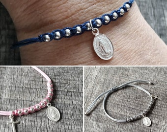 Dizainier bracelet with miraculous silver medal or gold-filled
