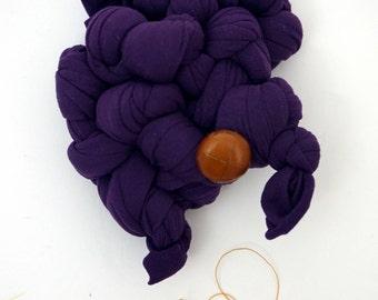 Purple Monster Brooch