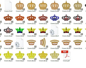 Crowns Set Embroidery Design