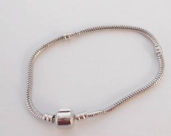 For European Charms 19 x 3 cm beads snake chain bracelets