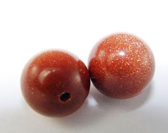 Lovely Brown and gold Sun bead 10 mm glitter. (8221463)