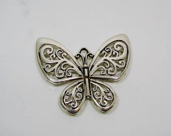 Charm pendant or Butterfly silver 56.00 mm in length.