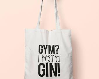Gym  I Heard Gin! Tote Bag Long Handles TB1100 a8dd28ab1a