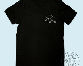 50574613f Origami Elephant Design unisex fit t-shirt S0662